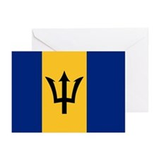 The Barbados National flag Greeting Cards (Package