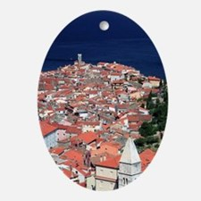 Slovenia. Piran. View from the Town  Oval Ornament