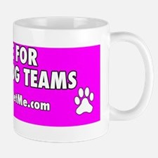 I BRAKE FOR SERVICE DOG TEAMS (pink) Mug