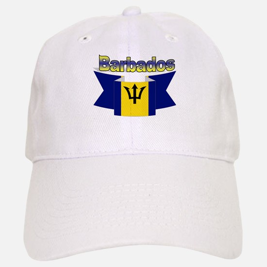 The Barbados flag ribbon Baseball Baseball Cap