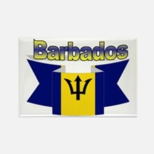The Barbados flag ribbon Rectangle Magnet