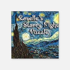 "Roselles Square Sticker 3"" x 3"""
