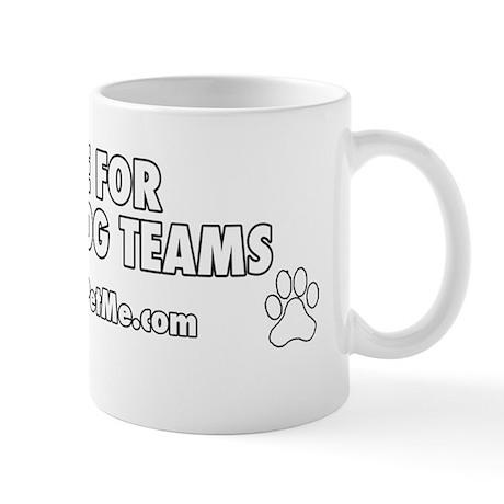 I BRAKE FOR SERVICE DOG TEAMS (clear ba Mug