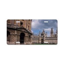 EUROPE, England, Oxford Uni Aluminum License Plate