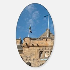 Main castle entrygh. Historic Edinb Sticker (Oval)