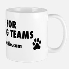 I BRAKE FOR SERVICE DOG TEAMS (clear ba Mug