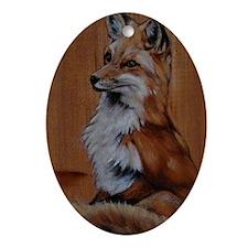 fox-oval Oval Ornament