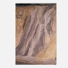 Multi-colored cliffse of  Postcards (Package of 8)
