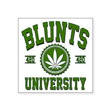 "BLUNTS_UNIVERSITYa3d Square Sticker 3"" x 3"""