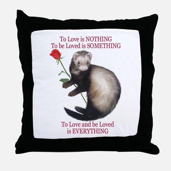 To Love is NOTHING Throw Pillow