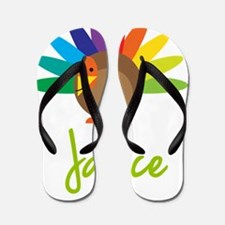 Janice-the-turkey Flip Flops