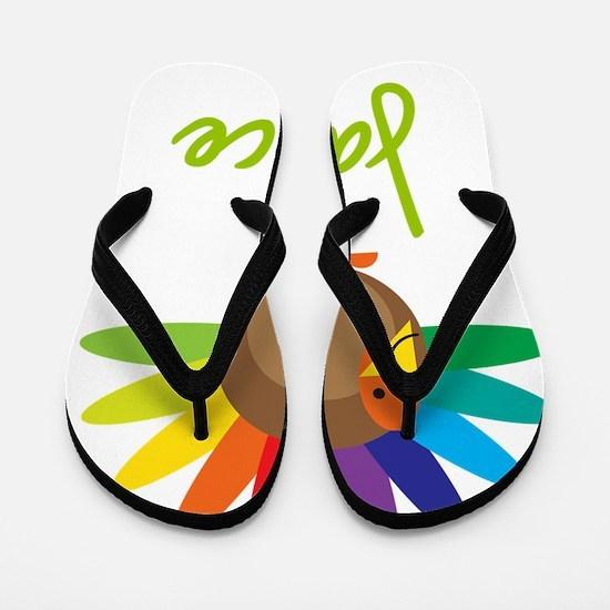 Janice-the-turkey Flip Flops