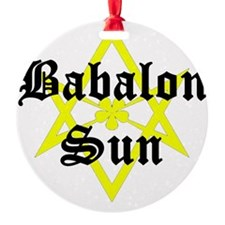 BabalonSun-10x10-dark Ornament