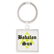 BabalonSun-10x10-dark Square Keychain