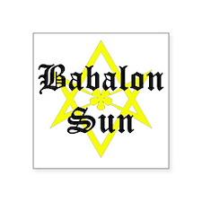 "BabalonSun-10x10-dark Square Sticker 3"" x 3"""