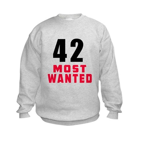 42 most wanted Kids Sweatshirt