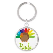 Paula-the-turkey Round Keychain