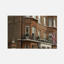 UK, London. Kensington. Town hous Rectangle Magnet