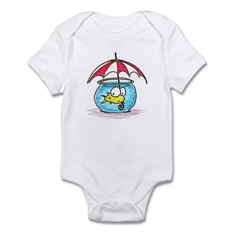 fish and umbrella Infant Bodysuit