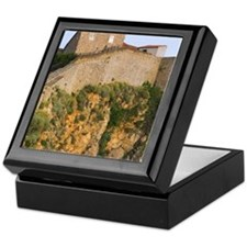 Ancient city walls on the cliff, Dubr Keepsake Box