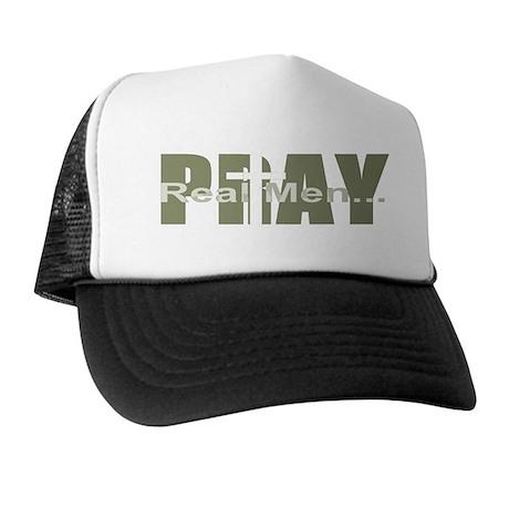Real Men Pray - Olive Trucker Hat