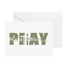 Real Men Pray - Olive Greeting Cards (Pk of 10