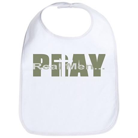 Real Men Pray - Olive Bib