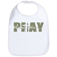 Real Men Pray - Olive Bib