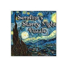 "Serafinas Square Sticker 3"" x 3"""