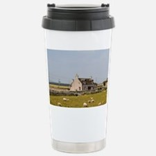 Sheep farm that is old and well Travel Mug