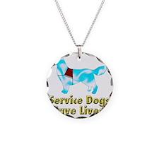 Service Dogs Save Lives Necklace