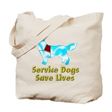 Service Dogs Save Lives Tote Bag