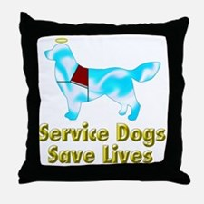 Service Dogs Save Lives Throw Pillow