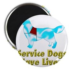 Service Dogs Save Lives Magnet
