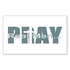 Real Men Pray - Lt Teal Rectangle Decal