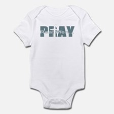 Real Men Pray - Lt Teal Infant Bodysuit