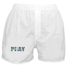 Real Men Pray - Lt Teal Boxer Shorts