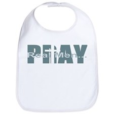 Real Men Pray - Lt Teal Bib