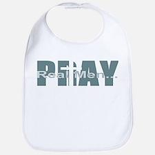 Real Men Pray - Lt Teal Bib