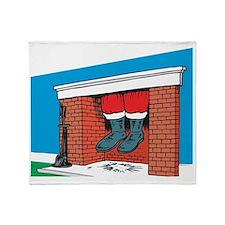 santa feet Throw Blanket