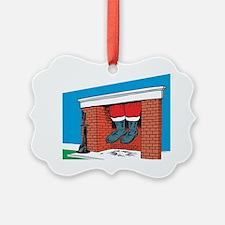 santa feet Ornament