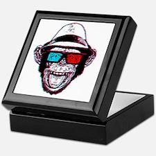 HIPSTER_CHIMP_3DGLASSES Keepsake Box