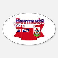 Bermuda flag ribbon Oval Decal