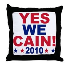 YES WE CAIN Throw Pillow