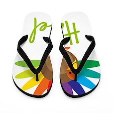Hazel-the-turkey Flip Flops