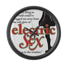 electricsex copy Large Wall Clock