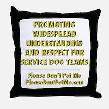 Please Dont Pet Me Mission Statement Throw Pillow