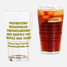 Please Dont Pet Me Mission Statemen Drinking Glass