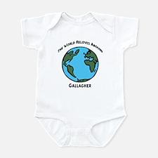 Revolves around Gallagher Infant Bodysuit