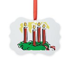 xmas candles Ornament